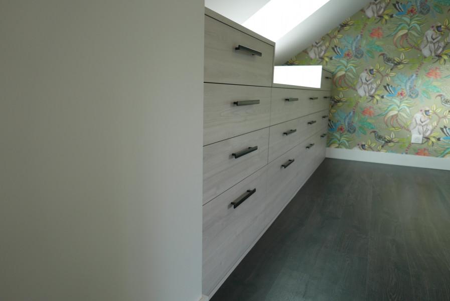 Agencement dressing et espaces de rangement à Saint-Malo
